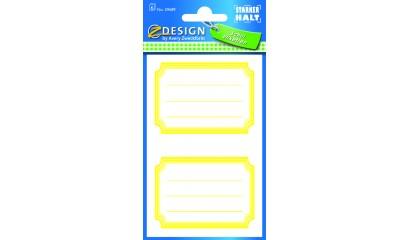 Naklejki na zeszyty i książki - żółte ramki AVERY 59689