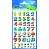 Papierowe cyfry - kolorowe AVERY 59335