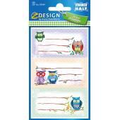 Naklejki Z-Design na książki i zeszyty - sowy