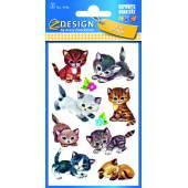 Naklejki papierowe - kotki  AVERY 4346