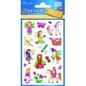 Naklejki papierowe - dziewczynki AVERY 53207
