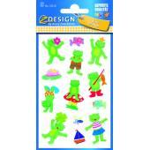 Naklejki papierowe - żabki  AVERY 53210