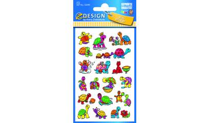Naklejki na błyszczącym papierze -żółwie AVERY 53340