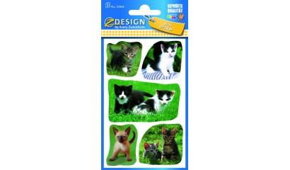 Naklejki papierowe - kotki AVERY 53463
