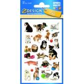 Naklejki papierowe - pieski  / kotki AVERY 53487