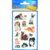 Naklejki papierowe - kotki AVERY 53574