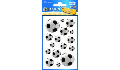 Naklejki papierowe- football 3 AVERY 53708