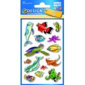 Naklejki papierowe - zwierzęta morskie AVERY 55712