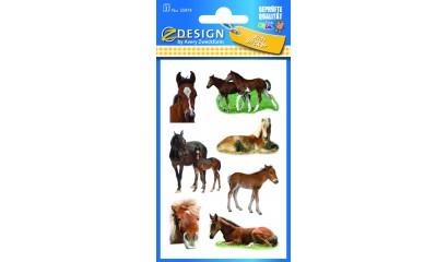 Naklejki papierowe - konie AVERY 55974