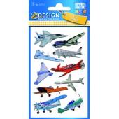 Naklejki folia 3D - samoloty AVERY 53751