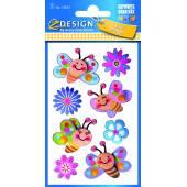 Naklejki 3D - motylki /  kwiatuszki  AVERY 54053