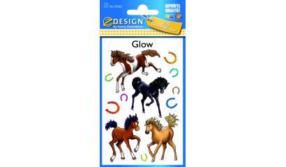 Naklejki  świecące w ciemności - konie AVERY 59253
