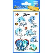 Naklejki  świecące w ciemności - delfiny AVERY 59254