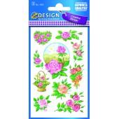 Naklejki z kwiatami - róża AVERY 4305