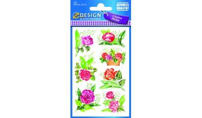 Naklejki z kwiatami - róże  AVERY 54115