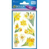Naklejki Z-Design z kwiatami - żonkile