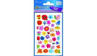 Naklejki z kwiatami - mix AVERY 54304