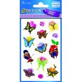 Naklejki - motyle i kwiaty AVERY 54322