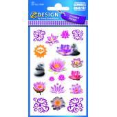 Naklejki z kwiatami - kwiat lotosu AVERY 54384