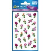 Naklejki Z-Design z kwiatami - różyczki