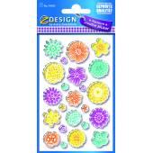 Naklejki błyszczące - kwiaty AVERY 54385