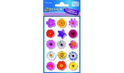 Naklejki błyszczące - kwiatki AVERY 54386