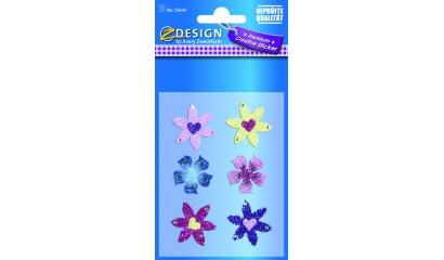 Naklejki brokatowe  - kwiatki AVERY 55646