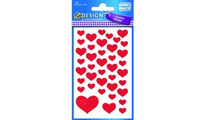 Naklejki papierowe - serca AVERY 4371