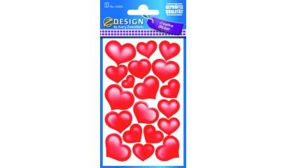 Naklejki - serca (błyszczący papier) AVERY 53205