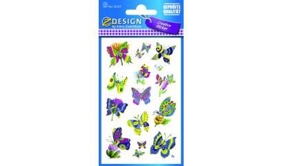 Naklejki papierowe, tłoczone - motyle  AVERY 55157