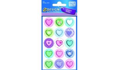 Naklejki papierowe - serca AVERY 57511