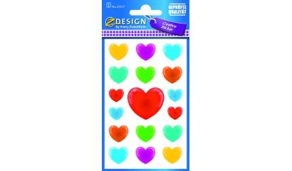 Naklejki papierowe - serca 3D AVERY 57517