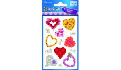 Naklejki - serca kwiatowe AVERY 55180