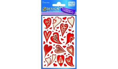 Naklejki - czerwone serca AVERY 57520