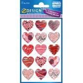 Naklejki Z-Design foliowe- czerwone serca