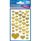 Naklejki Z-Design - złote serca