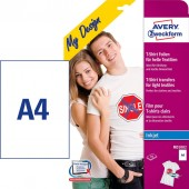 Papier do naprasowywanek AVERY T-Shirt na jasne tkaniny MD1002 (10szt)