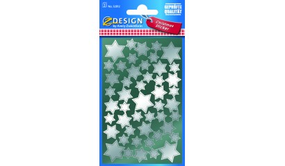 Naklejki Z-Design - srebrne gwiazdy