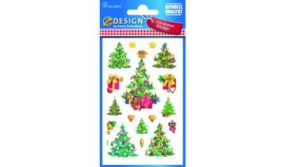Naklejki bożonarodzeniowe Z-Design - choinki