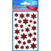 Naklejki świąteczne Z-Design - gwiazdki (błyszczące)