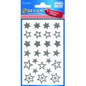 Świąteczne naklejki brokatowe Z-Design - gwiazdki