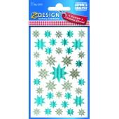 Naklejki Z-Design - niebieskie gwiazdy