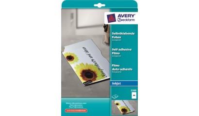 Folia samoprzylepna ZF Avery A4 przeźr. druk.atrament 0,17mic (10ark) 2500