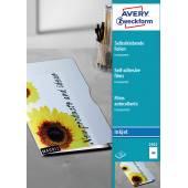 Przezroczyste folie samoprzylepne; A4, 50 szt./op., powlekane, grubość 0,17 mm, Avery Zweckform