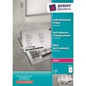 Folia samoprzylepna ZF Avery A4 przeźr. druk.laser i xero 0,14mic (100ark) 3480