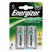 Bateria akumulator ENERGIZER Power Plus, C, HR14, 1,2V, 2500mAh, 2szt.