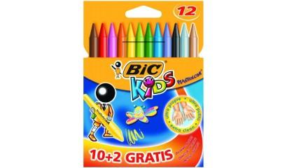 Kredki świecowe BIC Kids Plastidecor 12kol. 829770