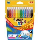 Flamastry BIC Kids Couleur 10+2kol. 841801