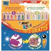 Flamastry BIC Kids Colour&Create Mini 10+2 kolorów  893238