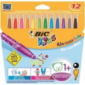 Flamastry BIC Kids Couleur Baby ( od 1roku życia) (12szt) 902080